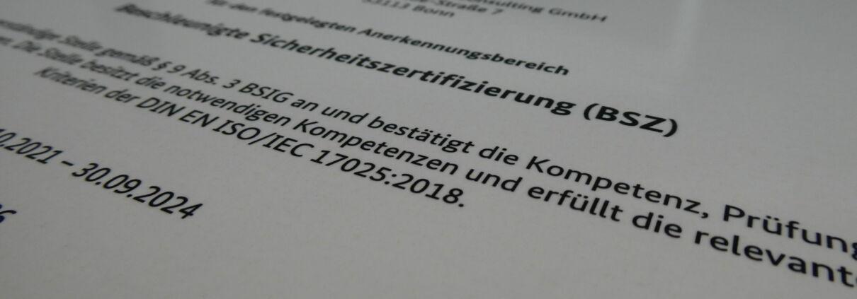 BSZ Certificate